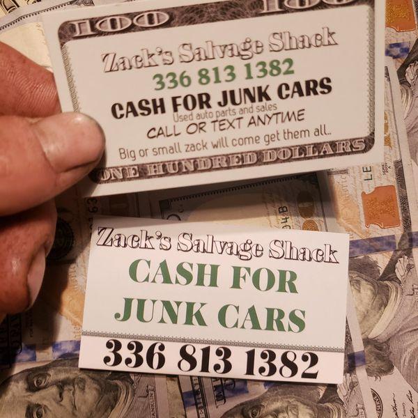 Cash For Junk Cars For Sale In Lexington, NC