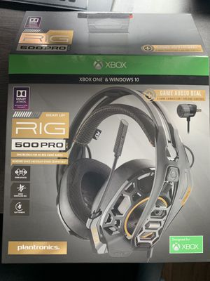 Plantronics - RIG 500 PRO HX Wired Gaming Headset for Xbox One for Sale in  Hawthorne, CA - OfferUp