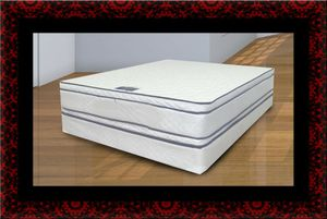 Queen mattress double pillowtop with box spring for Sale in Herndon, VA