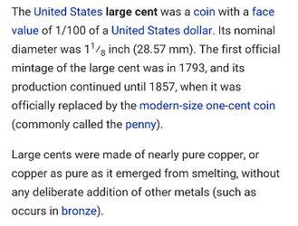 United States large cent Thumbnail