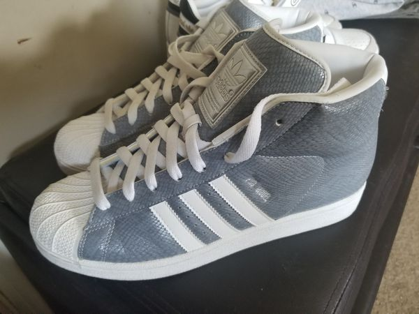 info for a072a 32c79 Adidas All-star pro model high silver snake sz.10 for Sale in Strongsville,  OH - OfferUp