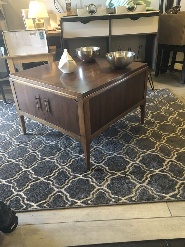 Mid Century Modern Coffee Table With Storage By Lane For Sale In Las