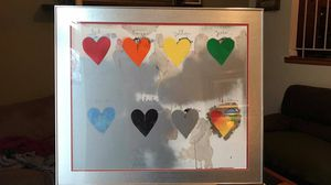 Silver rainbow hearts wall hanging 1970 - $250 (Reston) for Sale in Reston, VA