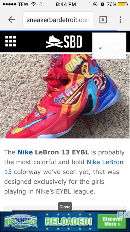 770e0fd9a412 EYBL Edition Nike Lebron 13s (Limited Edition) for Sale in Jacksonville