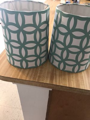 New and used lamp shades for sale in my location offerup set of 2 tiffany blue lamp shades aloadofball Gallery