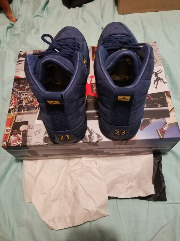 9ce72e8f0496 New Jordan 12 retro Michigan size 10.5 (Clothing   Shoes) in Philadelphia