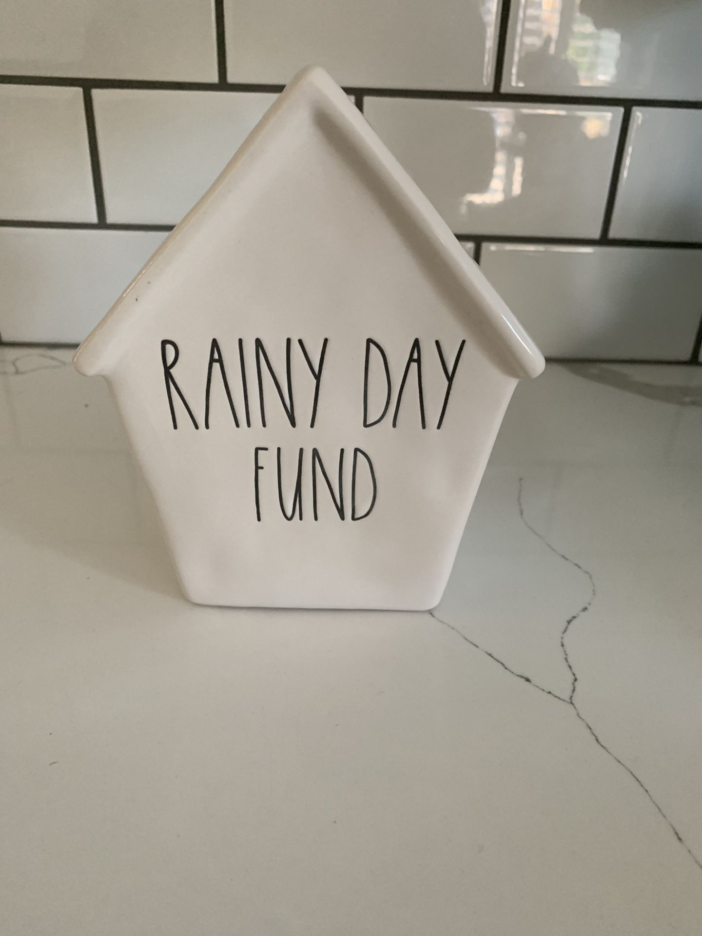 Rae Dunn rainy day bank