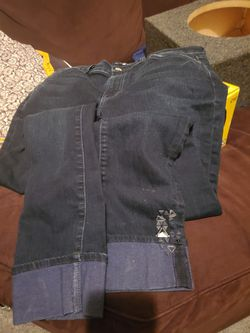 7 for all mankind Jean's with designs on legs Thumbnail
