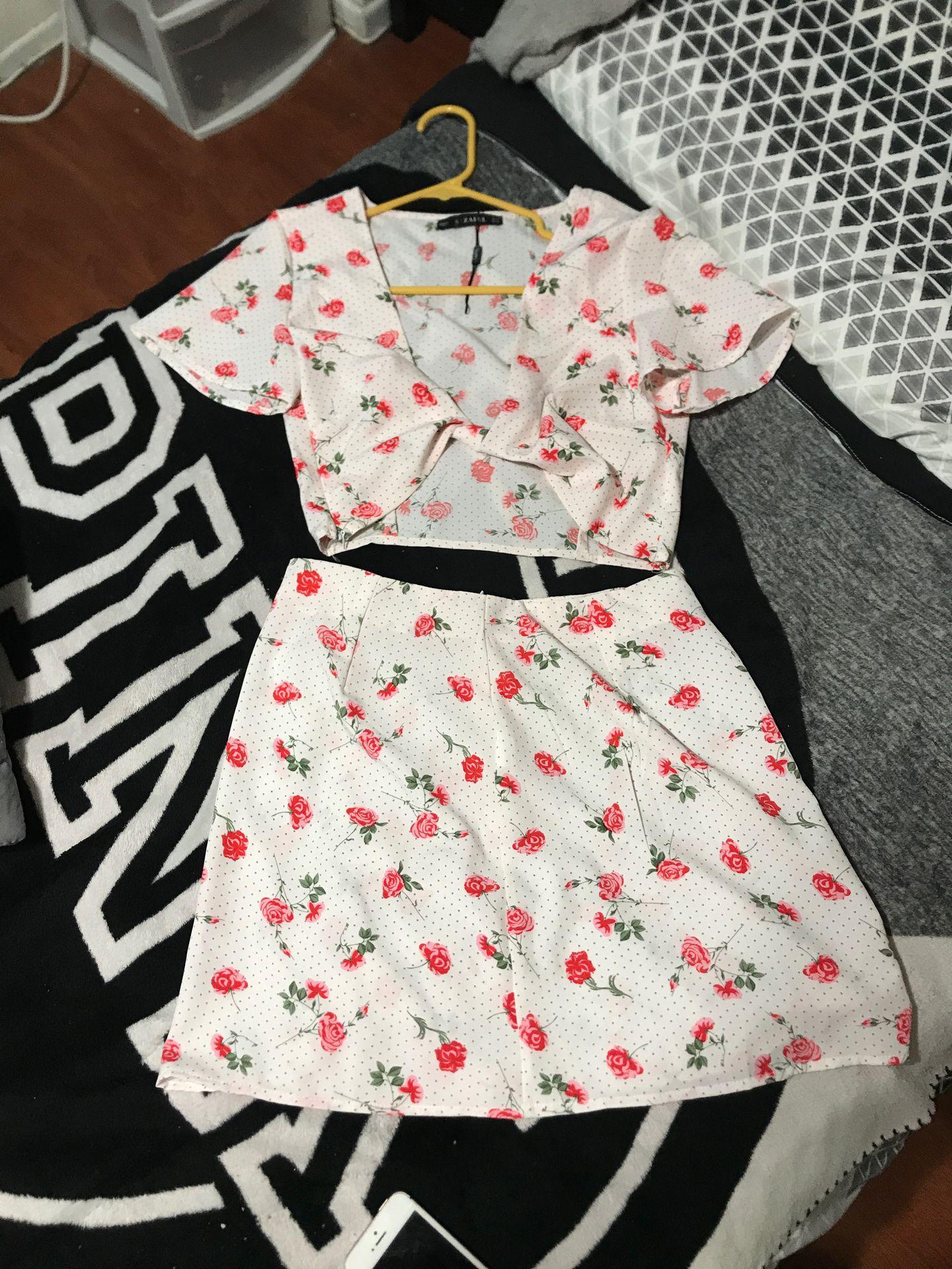 size small skirt set