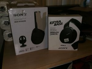 Sony Wireless Headphones Home Wireless stereo system and Sony Extra Bass Bluetooth headphones for Sale in Fresno, CA
