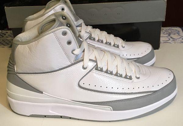 """53d3ca1f661 Air Jordan 2 Retro """"25th SILVER ANNIVERSARY Size 11.5 for Sale in ..."""