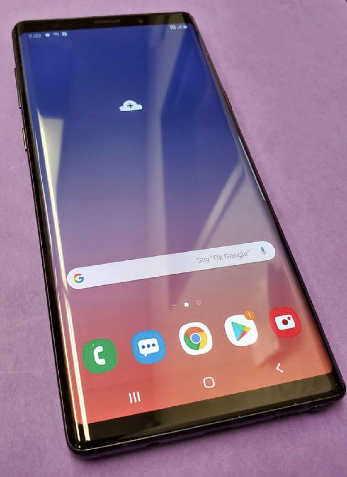 Samsung galaxy note 9 128gb unlocked, store warranty