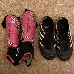 Soccer Shoes And Shin Guards Size 12 Thumbnail