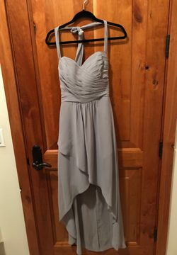 Belsoie Size 8 Grey Bridesmaid Dress Thumbnail
