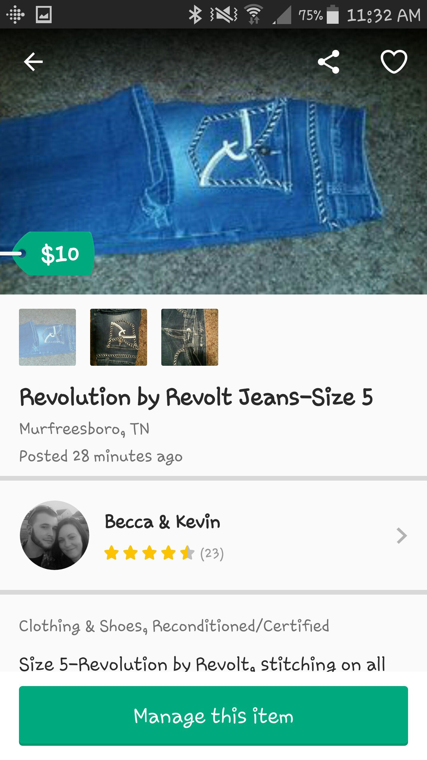 3 Pair of Jeans (5/6 size)