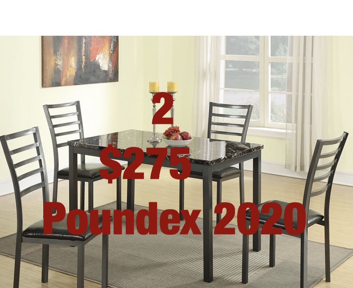 Dining sets. Assembly required. Free delivery.