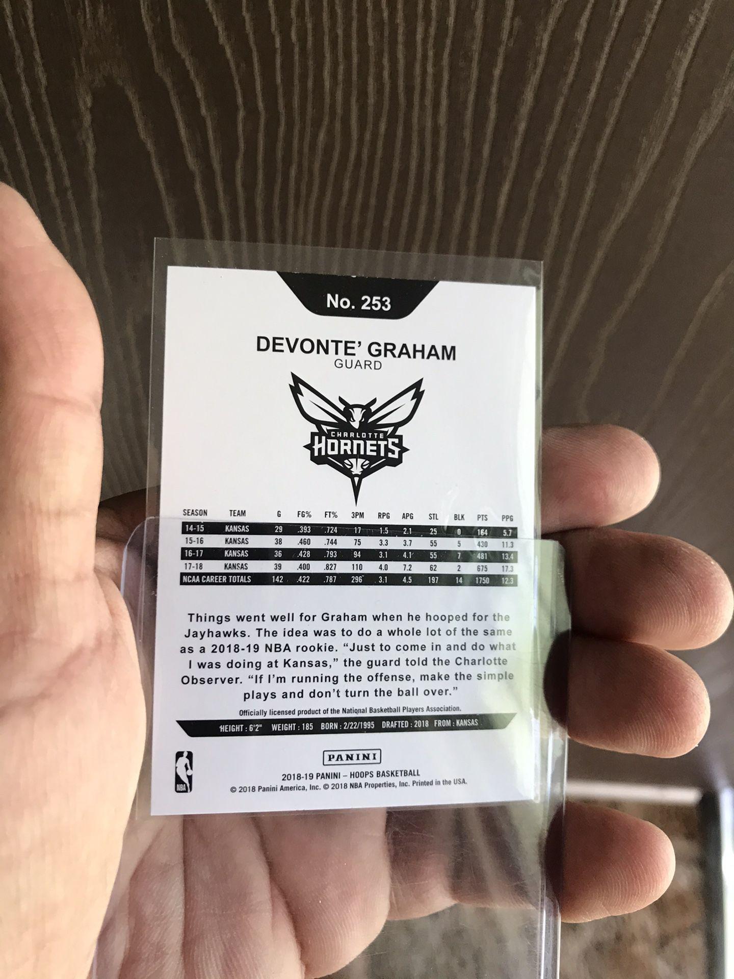 NBAHOOPS DEVONTE GRAHAM ROOKIE CARD