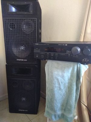 Digital pro audio speakers and a Yamaha cinema DSP Dolby digital with surround sound system for Sale in Orlando, FL