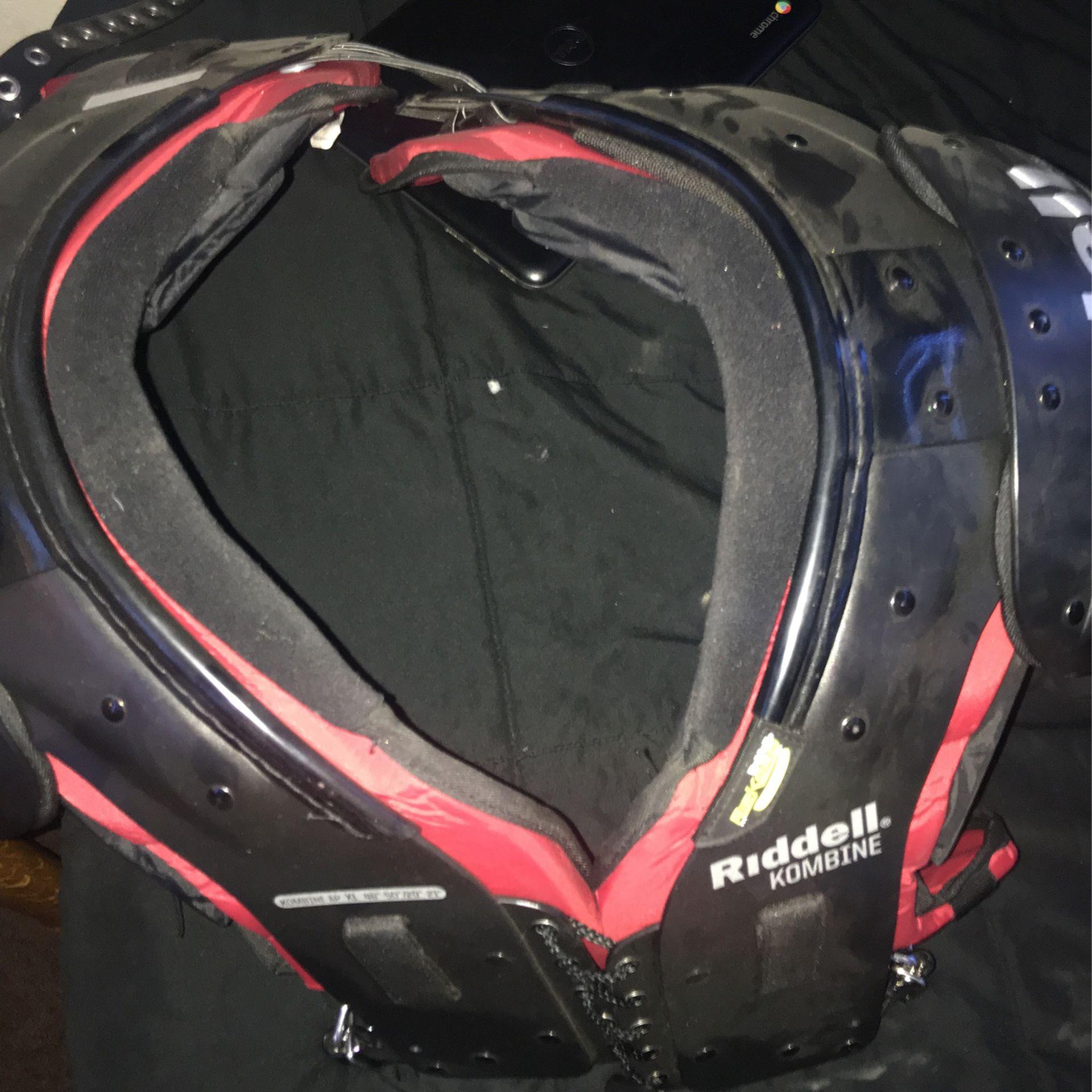 Helmet And Shoulder Pads