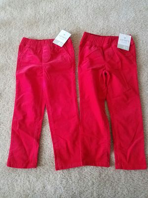 New with tags girls Carters corduroy winter pants size 4T - $7 each price firm. for Sale in Rockville, MD
