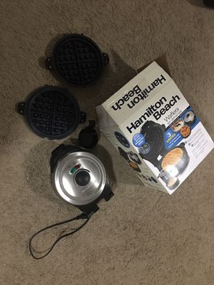 Used, Hamilton beach mess free deep dish waffle maker - new in box for sale  Bentonville, AR