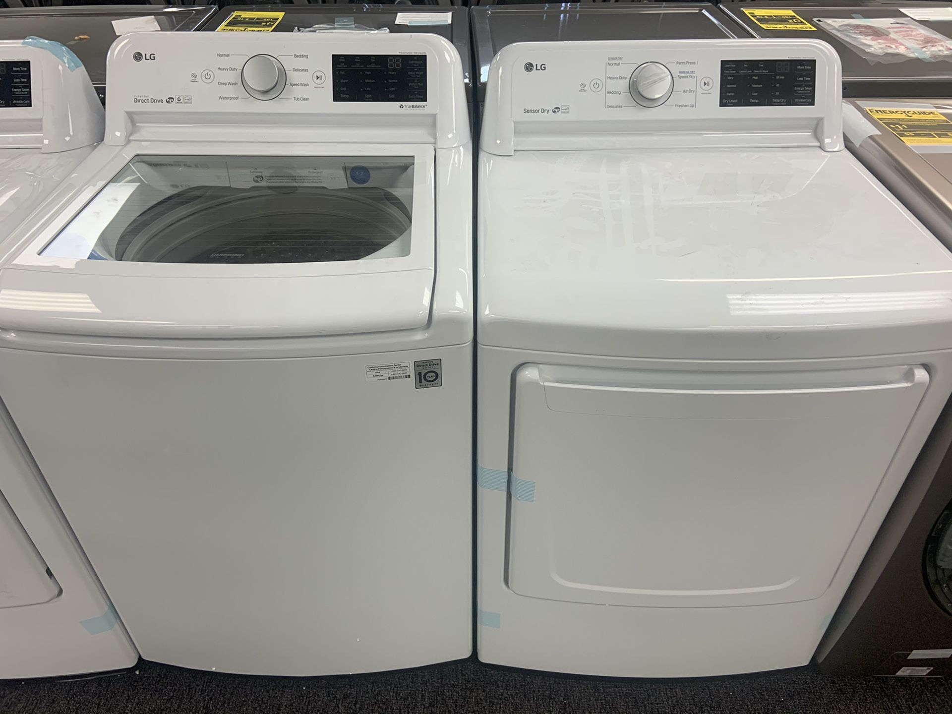 New lg top load washer and dryer