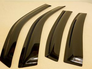 Photo Chevrolet Impala window Visor Guard set. 2 front & 2 rear. High quality, flexible and durable. Acrylic in black smoke color. Excellent condition