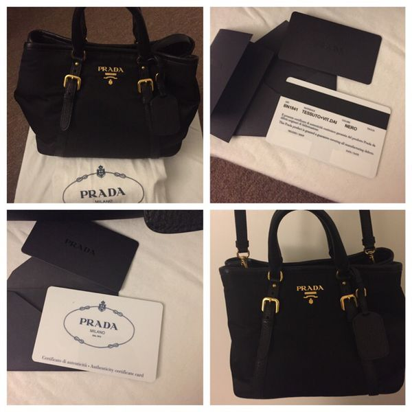 9975b806b27c Authentic Prada Tessuto Vitello Daino Leather Nylon Satchel Crossbody BN1841  Nero for Sale in South San Francisco, CA - OfferUp