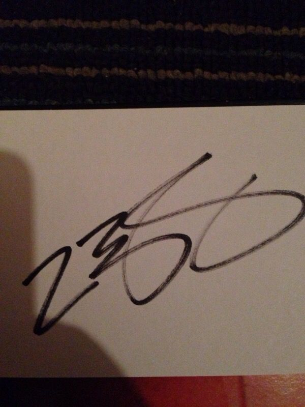 Signed lebron index card rookie auto