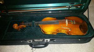 Violin Otto Benjamin 4/4 w/pernambuco bow and case Standard. And accessories plus books for Sale in Orlando, FL