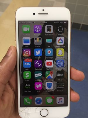 iphone 8 unlocked/CRACKED/128gb/T-Mobile for Sale in Brentwood, MD