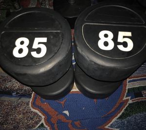85 lbs set dumbbells - Also available 95lbs set - 80 lbs set - 75 lbs set. Everything for a discounted price of $500.00 . for Sale in Mission Viejo, CA