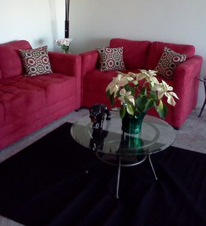 Red Sofa-set Two Piece for Sale in Cleveland, OH