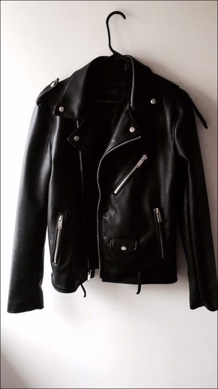 Guess Faux Leather Moto Jacket Men Size S For Sale In Los Angeles