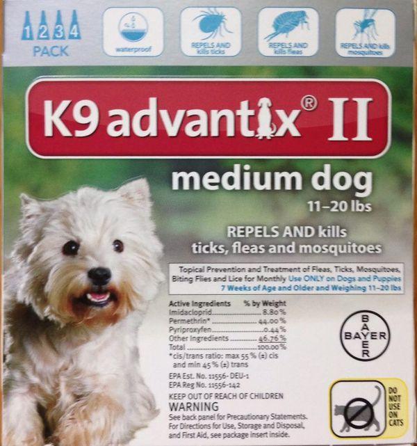 K9 Advantix Ii Medium Dog 11 20 Lbs 4 Applications Bayer For