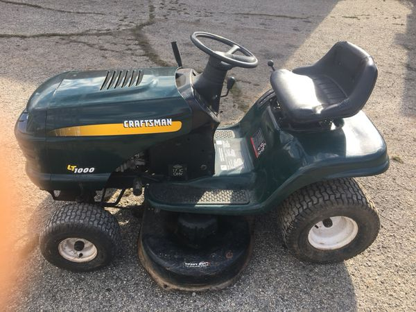 Craftsman LT1000 Lawn Tractor for Sale in Stony Point, NC - OfferUp