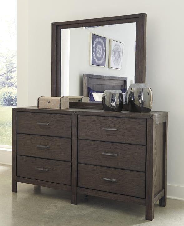 Dellbeck Dark Brown Storage Platform Bedroom Set
