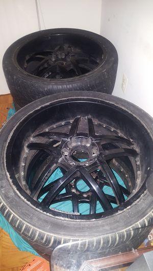 "24"" universal black rims 4 sale for Sale in Oxon Hill, MD"