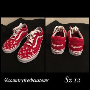 Size 12 customs. Louis Vuitton x Supreme for Sale in Katy, TX