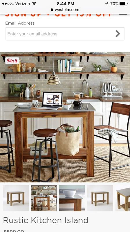 West Elm Rustic Kitchen Table/Island for Sale in New York, NY - OfferUp