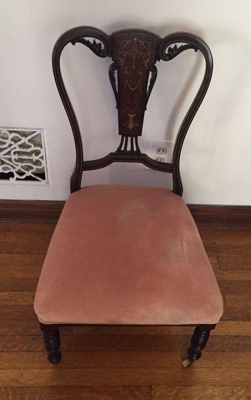 Antique Decorative Wood Slipper Chair (Antiques) in Long Beach, CA - OfferUp - Antique Decorative Wood Slipper Chair (Antiques) In Long Beach, CA