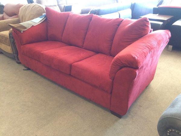Red Suede Sofa Sleeper for Sale in Phoenix, AZ - OfferUp
