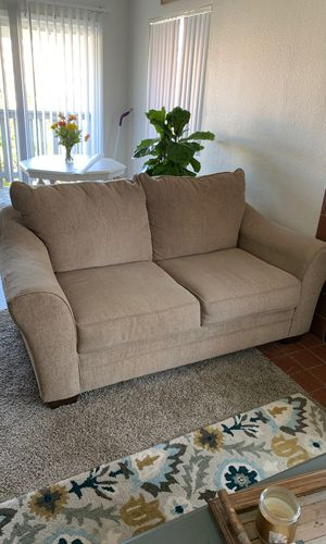 Ashley Furniture Over Sized Tan Loveseat Couch For In San Go Ca