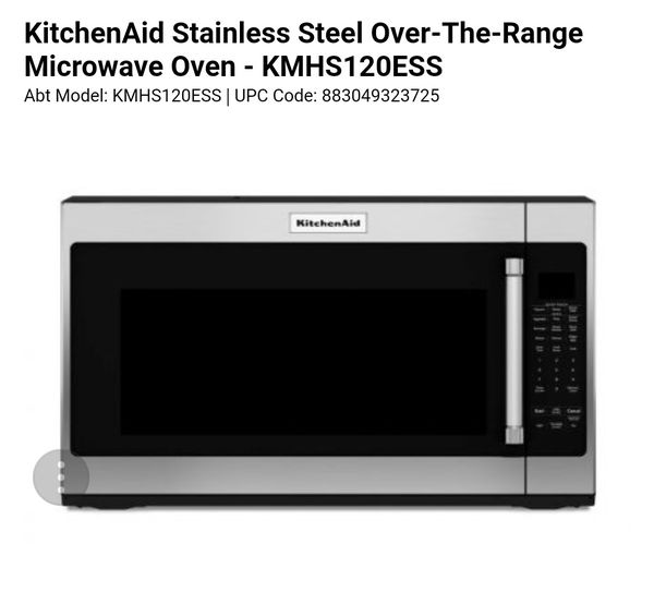 KITCHENAID SS OVER THE RANGE MICROWAVE For Sale In Modesto CA OfferUp - Abt microwave