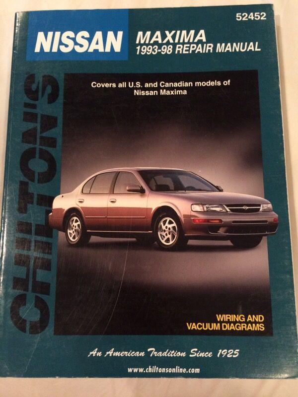 chilton's nissan maxima '93-98 repair manual