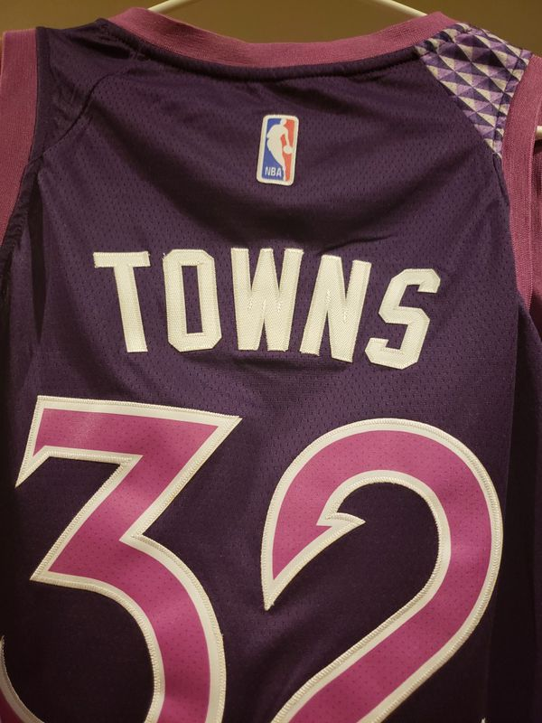 KAT Karl Anthony towns Minnesota timberwolves jersey with tags for ... ed1b46f2b