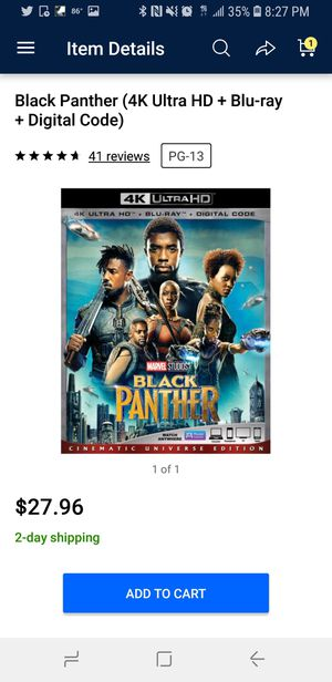 Black Panther 4K for Sale in St. Louis, MO