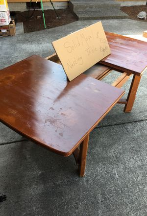 Solid maple dining table. Nesting leaf. for Sale in Gig Harbor, WA