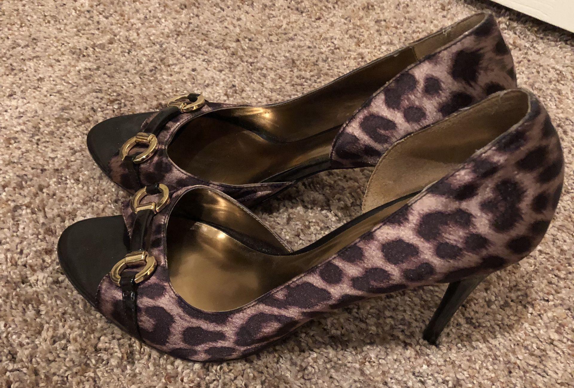 Carlos Santana leopard shoes