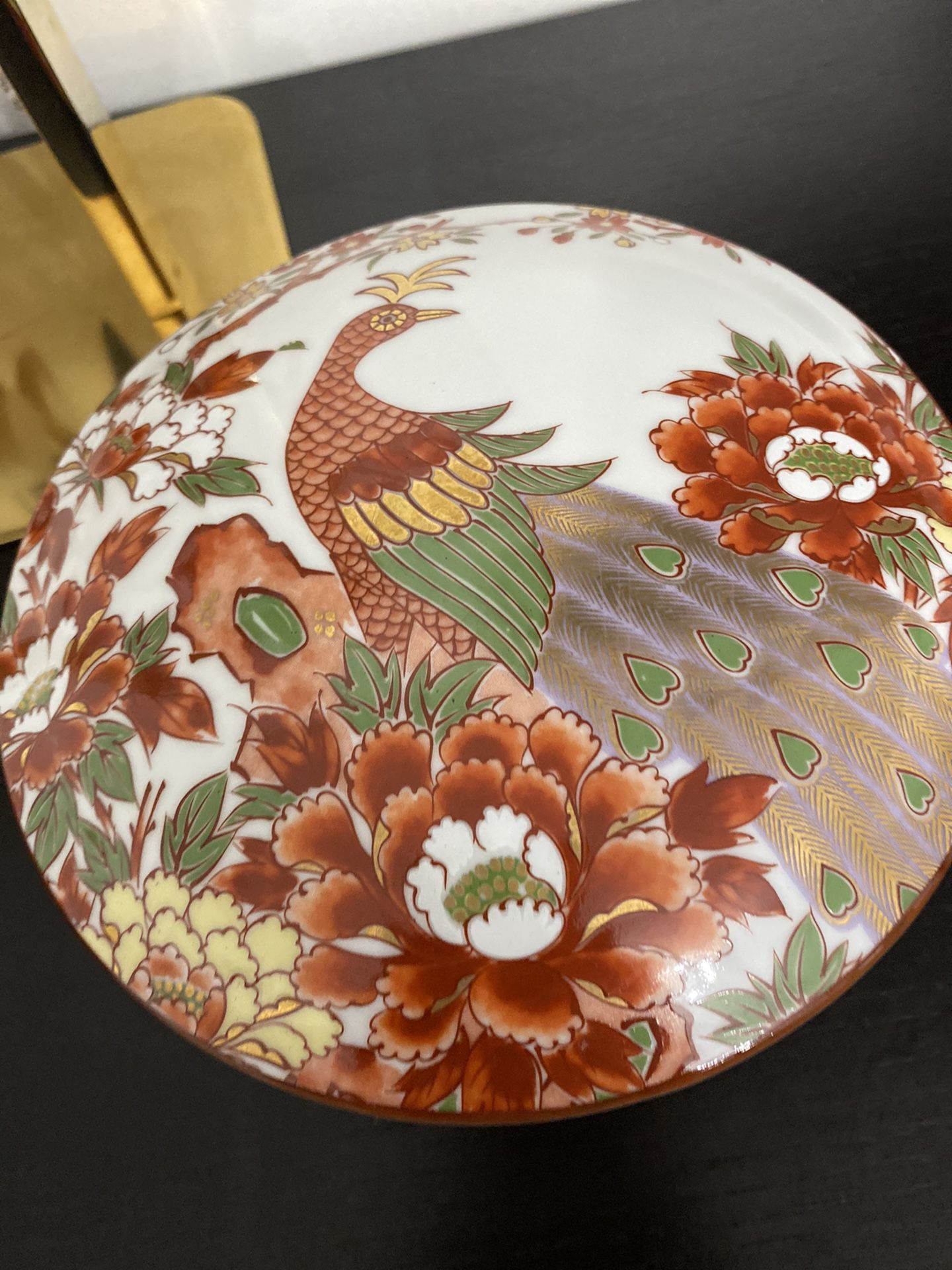 Vintage Japanese Bowls With a Peacock In Beautiful Colors. I Used It For Jewelry
